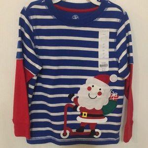 🎅🏼 NWT-Boys Santa Shirt (size 4T)